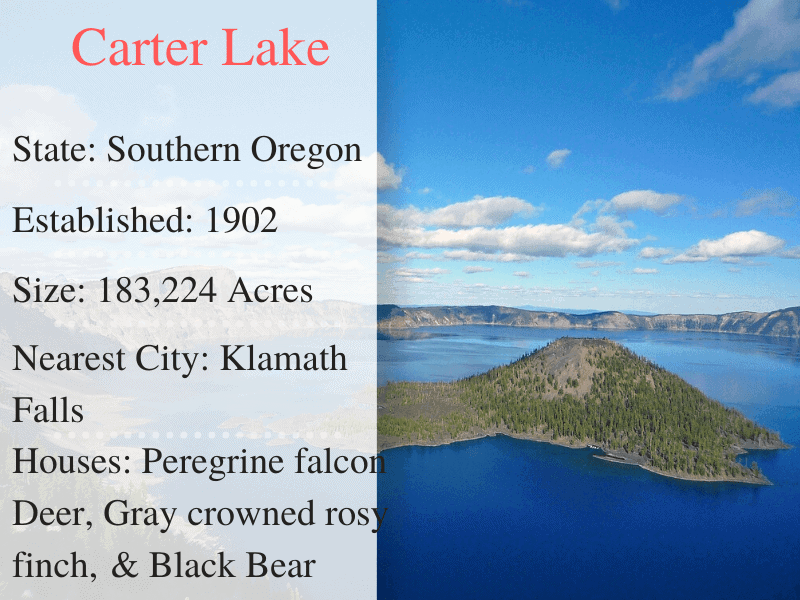 Carter Lake National Park Facts