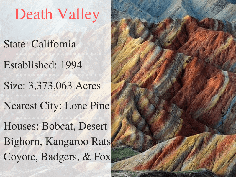 Death Valley National Park Facts